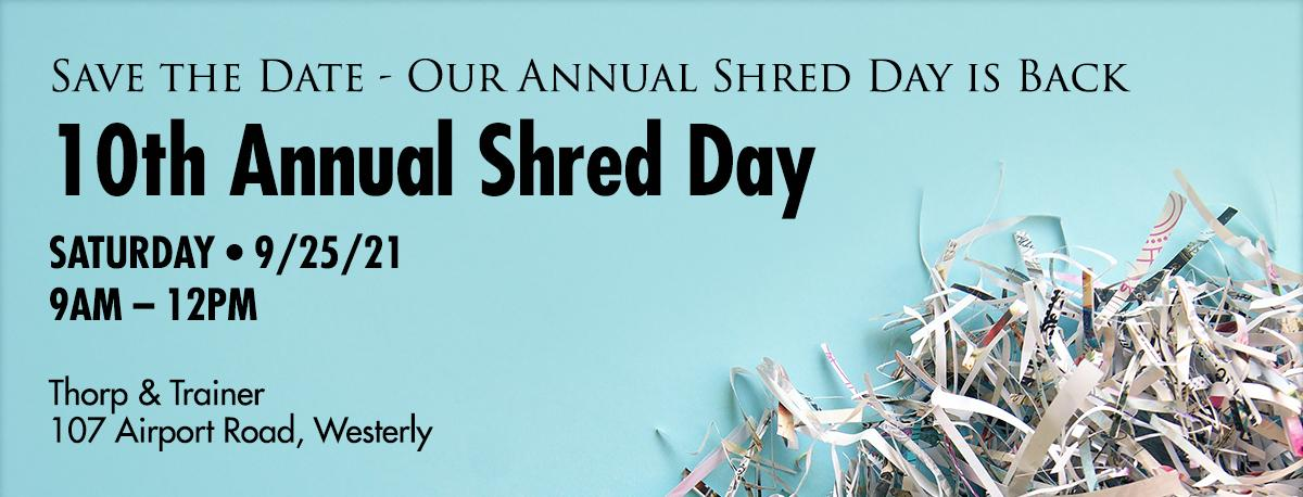 10th Annual Shred Day September 25